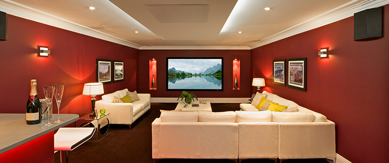 Spacious home theatre